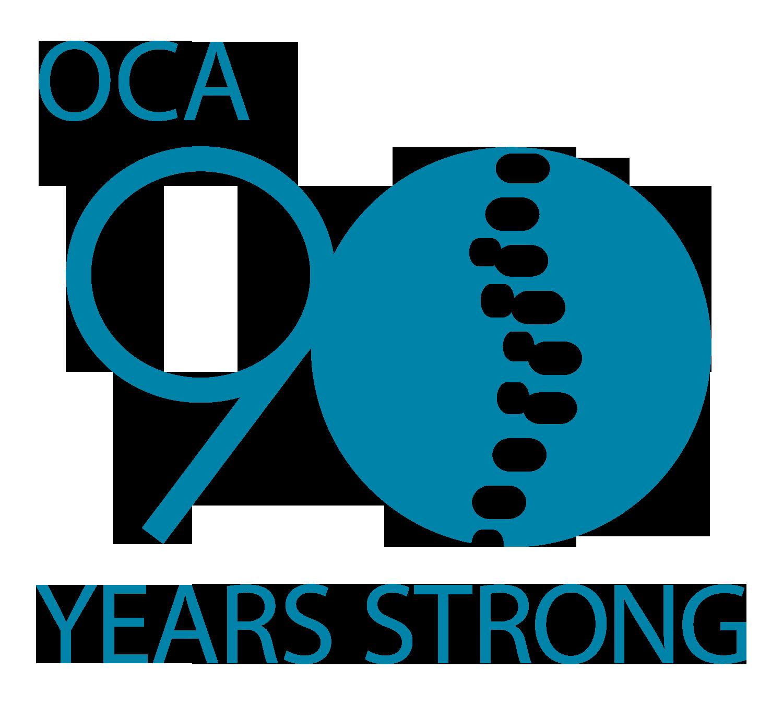 Ontario Chiropractic Association 90 years logo