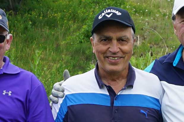 Domenic at the 2017 Knights of Columbus golf tournament