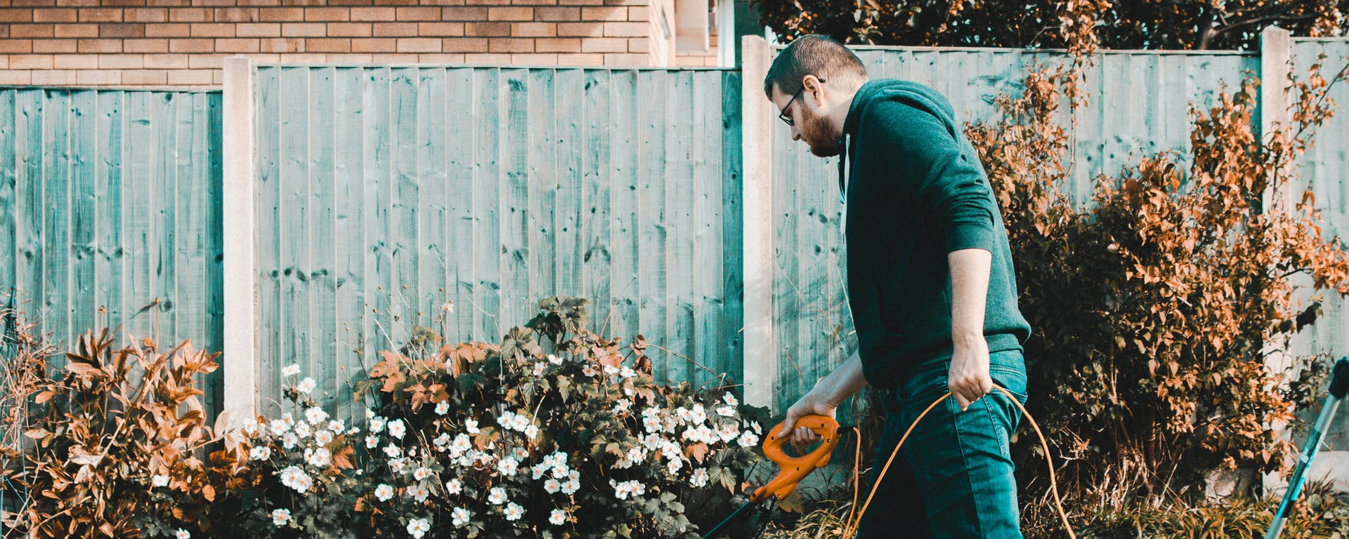 Man set to tend his garden and protect himself from injury