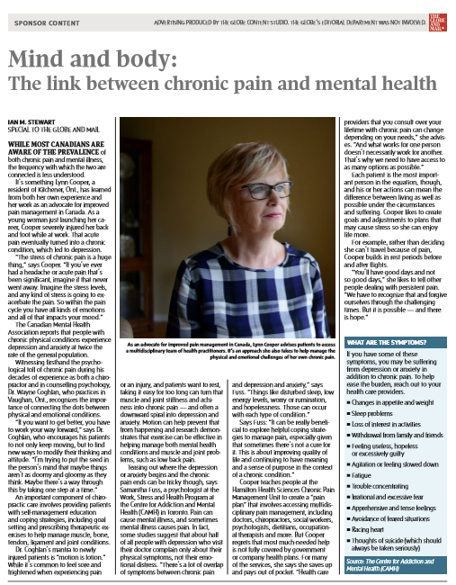 Globe article on mental health