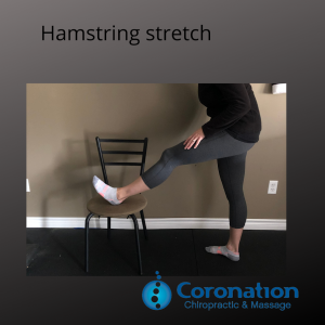 Image of a person demonstrating a hamstring stretch
