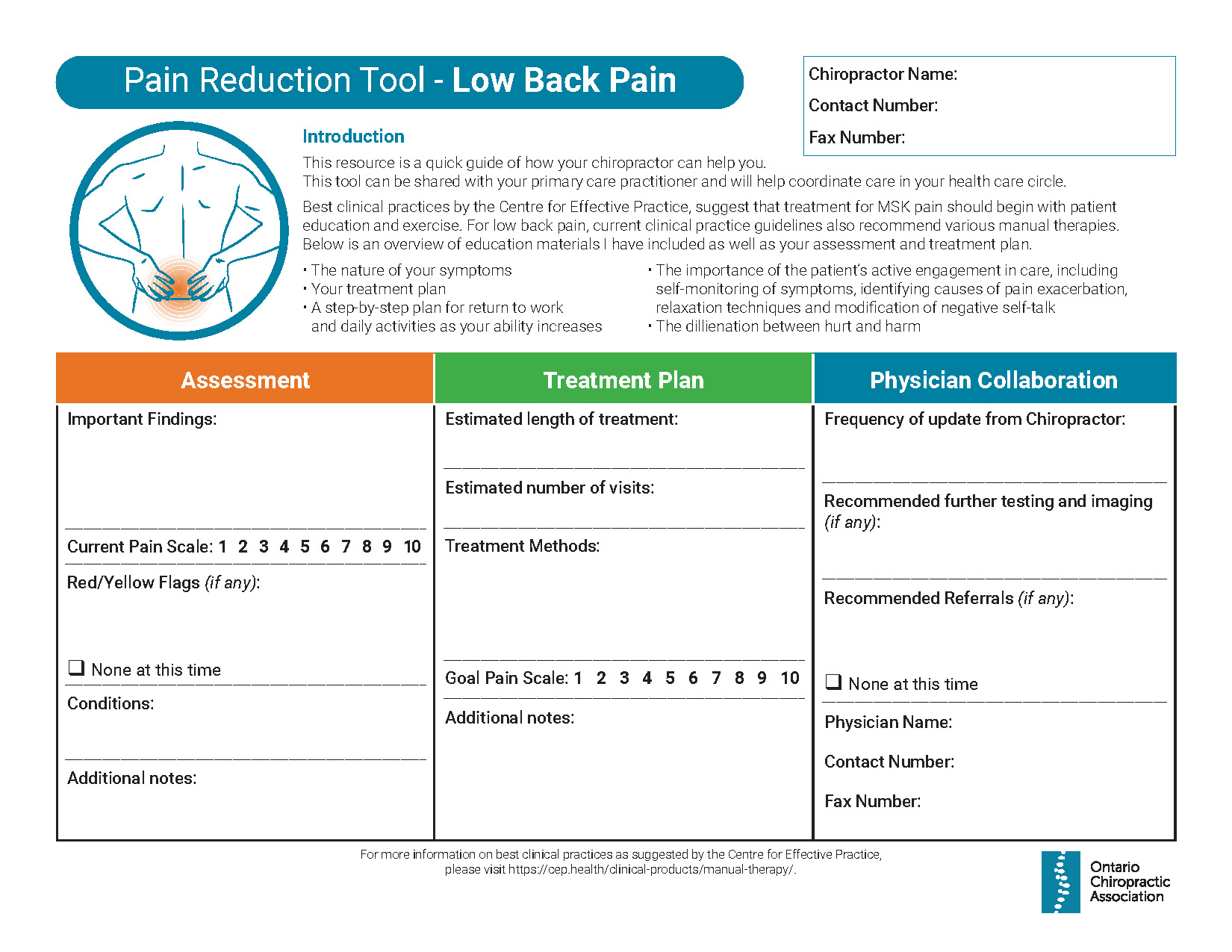 Thumbnail of Pain Reduction Tool - Low Back Pain