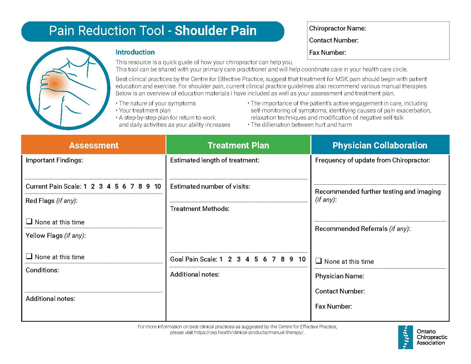 Thumbnail of Pain Reduction Tool - Shoulder Pain
