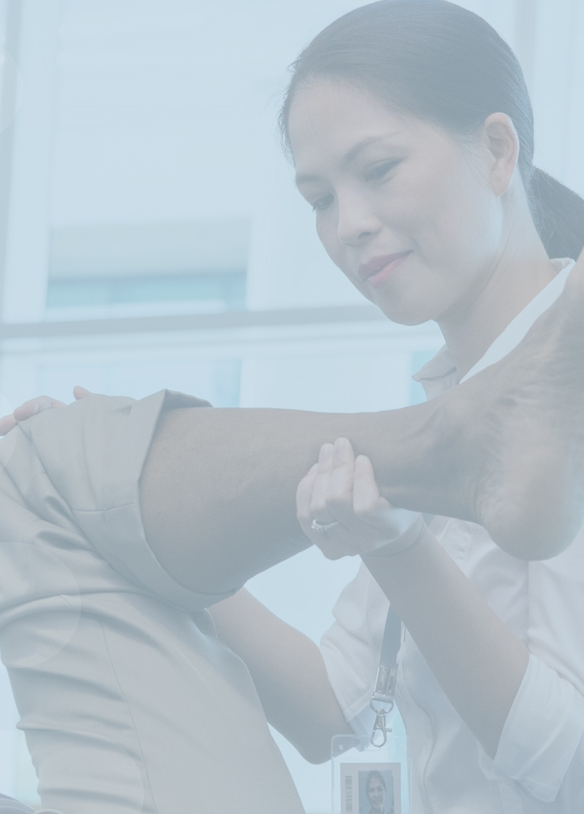 Chiropractor providing EHC chiropractic coverage care to patient