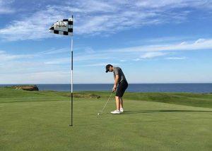 Dr. Welsh golfing