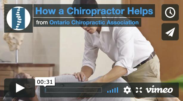 Snapshot of how a chiropractor helps video