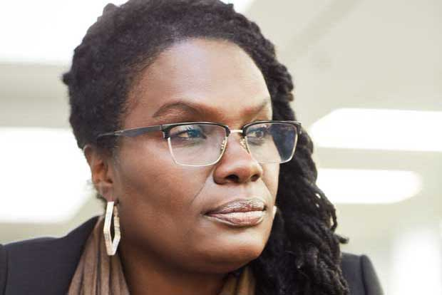 Headshot of Sharon Pike looking thoughtful