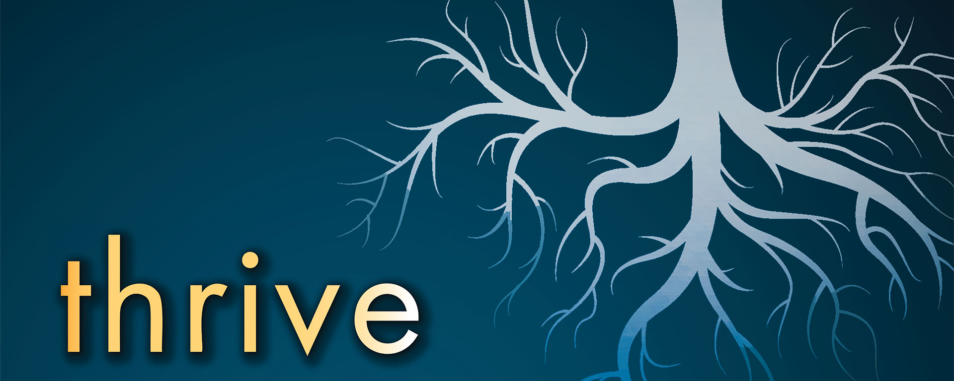 banner image with thrive and tree roots
